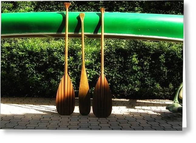 Canoe To Nowhere Greeting Card by Alec Drake