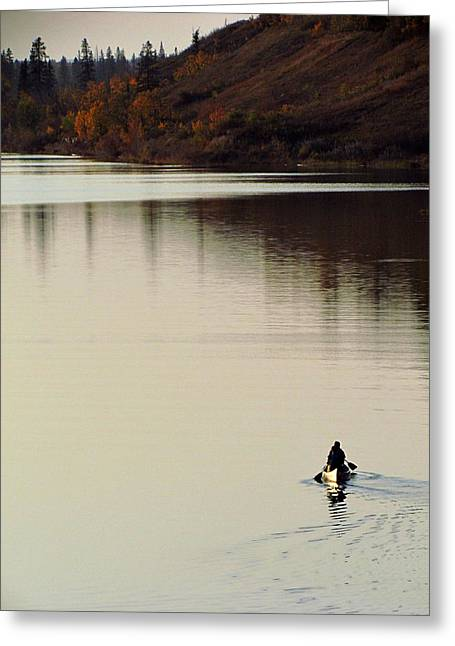 Canoe Photographs Greeting Cards - Canoe Tracks Greeting Card by Andrea Arnold