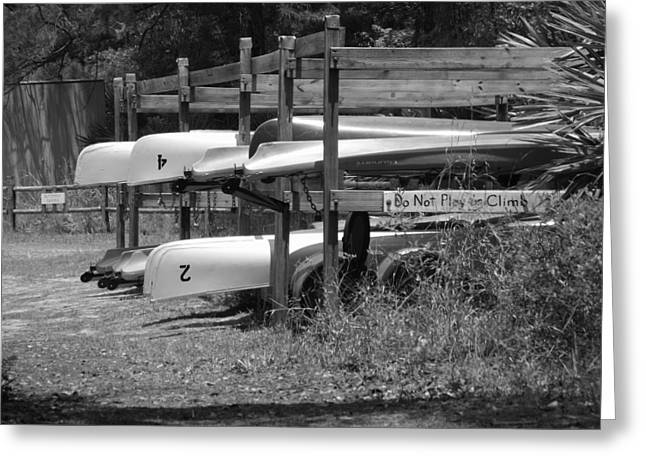Shawna Gibson Greeting Cards - Canoes II Greeting Card by Shawna Gibson