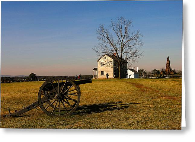 Historical Photographs Greeting Cards - Cannon and the Henry House II Greeting Card by Steven Ainsworth