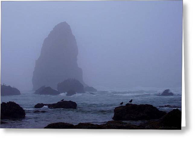 Monolith Greeting Cards - Canon Beach Monolith Greeting Card by Deborah  Crew-Johnson