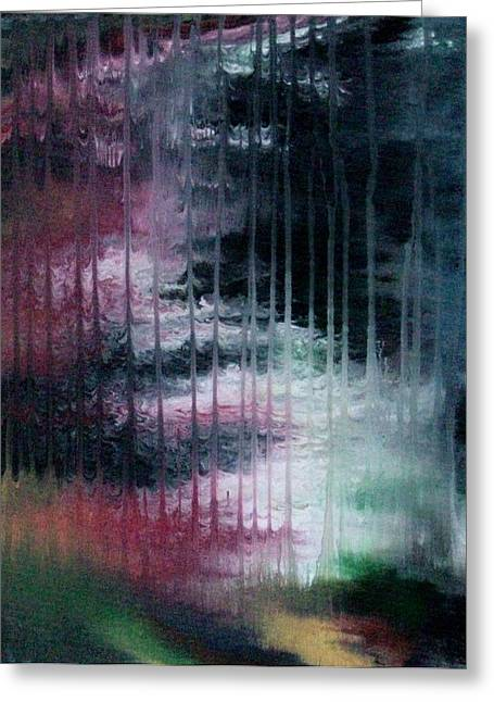Warwick Paintings Greeting Cards - Cant See The Forest for the Rain Greeting Card by Charlotte Nunn