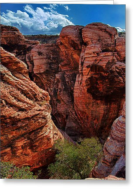 Red Rock Canyon Greeting Cards - Canyon Glow Greeting Card by Rick Berk