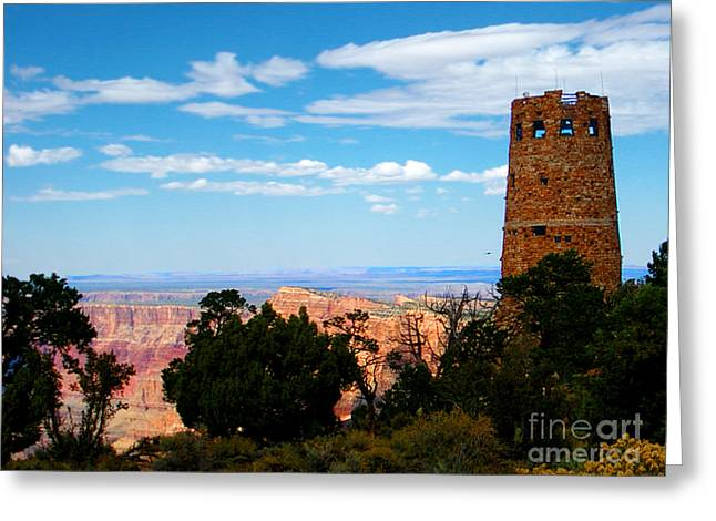 Scenic View Greeting Cards - Canyon Look Out Greeting Card by The Kepharts