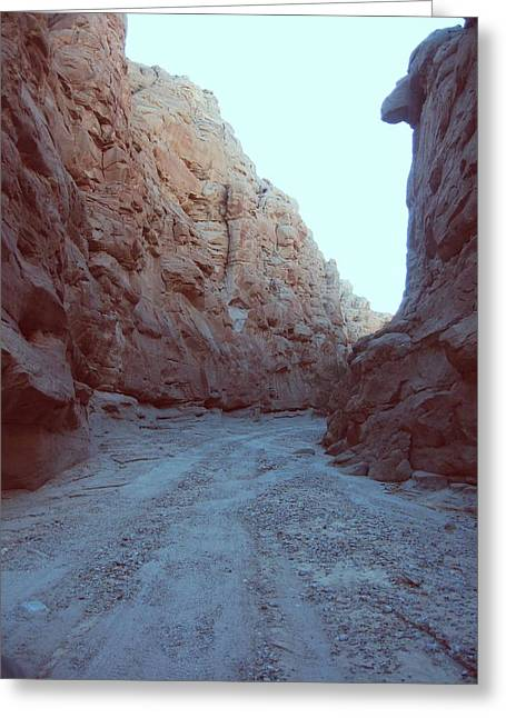 Mountain Road Greeting Cards - Canyon Greeting Card by Naxart Studio