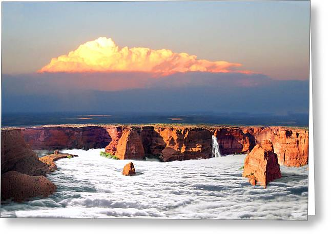 Luminist Greeting Cards - Canyon Ruins Greeting Card by Ric Soulen