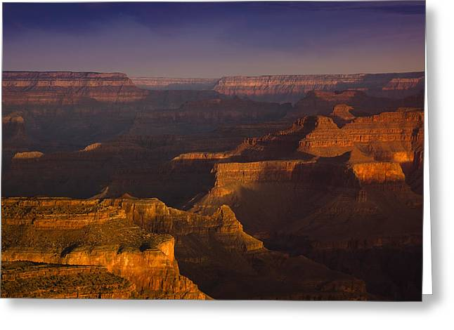 National Photographs Greeting Cards - Canyon Shadows Greeting Card by Andrew Soundarajan