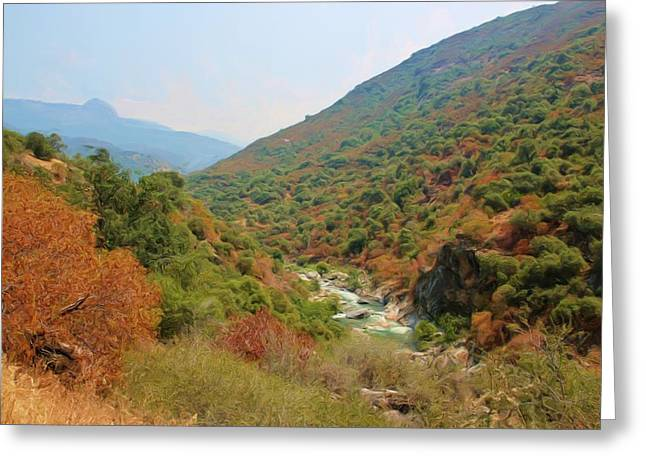 Sequoia National Park Greeting Cards - Canyon Stream Greeting Card by Heidi Smith