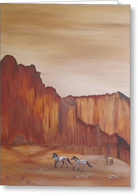 Melody Perez Greeting Cards - Canyon Trio Greeting Card by Melody Perez