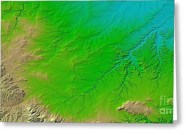 Spanish Peaks Greeting Cards - Canyons In Colorado Greeting Card by NASA / Science Source
