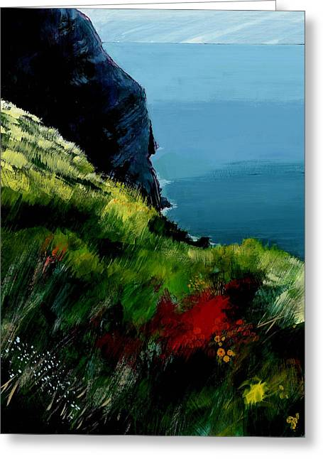 South Of France Mixed Media Greeting Cards - Cap Canille Greeting Card by David Bates
