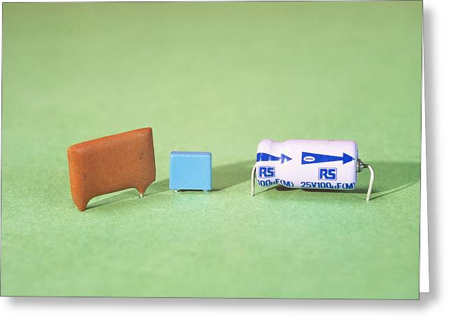 Capacitors Greeting Cards - Capacitors Greeting Card by Andrew Lambert Photography