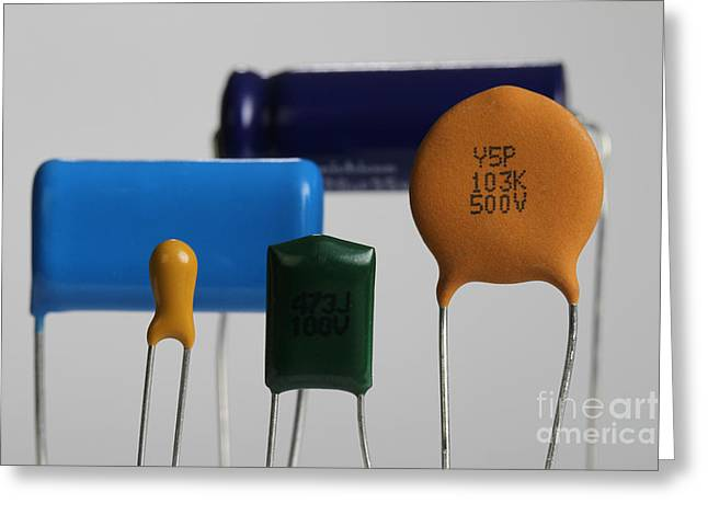 Capacitors Greeting Cards - Capacitors Greeting Card by Photo Researchers
