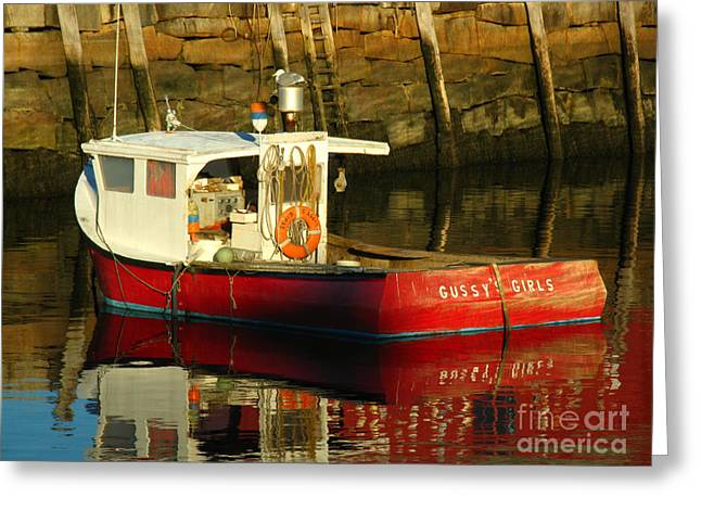 Rockport Ma Greeting Cards - Cape Ann Fishing Boat Greeting Card by Juergen Roth