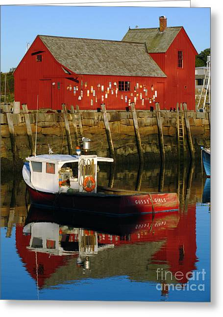 Red Fishing Shack Greeting Cards - Cape Ann Photography Greeting Card by Juergen Roth