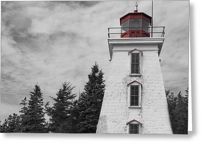 Bear Island Lighthouse Greeting Cards - Cape Bear Lighthouse Prince Edward Island Greeting Card by Gord Patterson