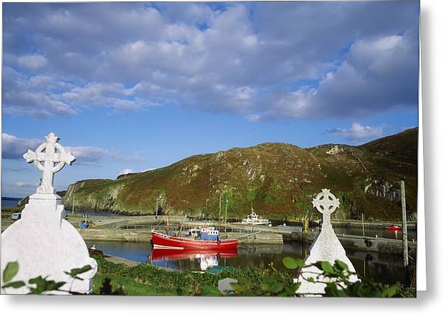Headstones Greeting Cards - Cape Clear Island, Co Cork, Ireland Greeting Card by The Irish Image Collection