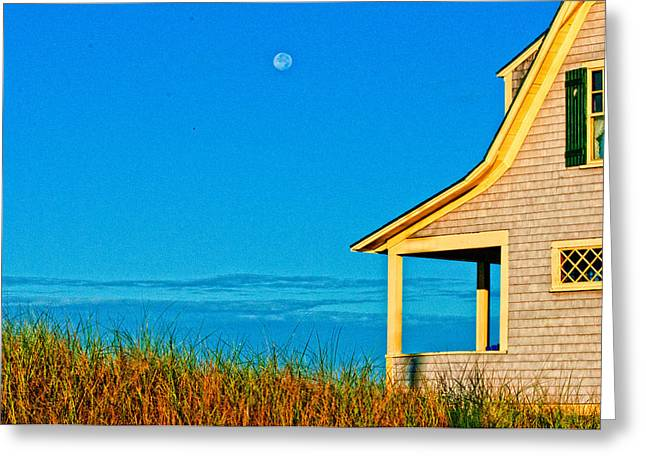 Cape Cod Bay House Greeting Card by Linda Pulvermacher