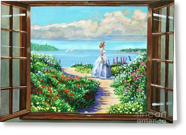 Most Paintings Greeting Cards - Cape Cod Beauty Greeting Card by David Lloyd Glover