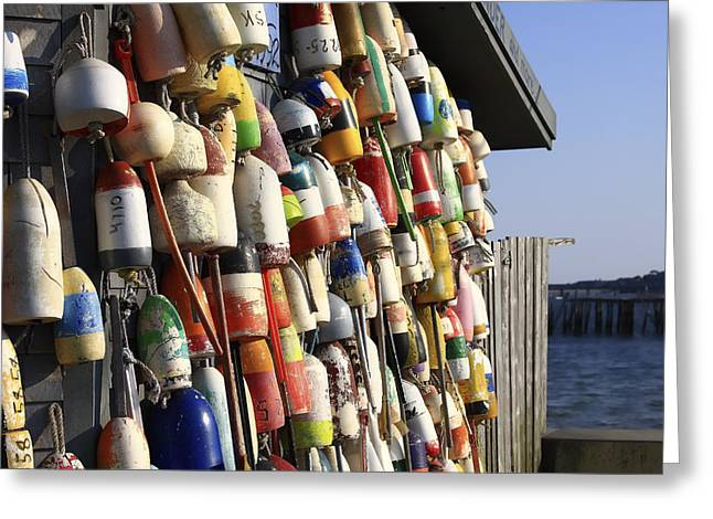 Cape Greeting Cards - Cape Cod Buoys Greeting Card by Dapixara Art