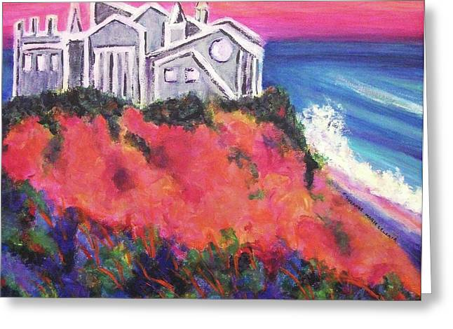 Cape Cod Mass Paintings Greeting Cards - Cape Cod Castle Greeting Card by Suzanne  Marie Leclair