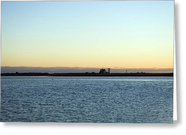 Chatham Greeting Cards - Cape Cod Lighthouse And Bay, Chatham Greeting Card by Keenpress