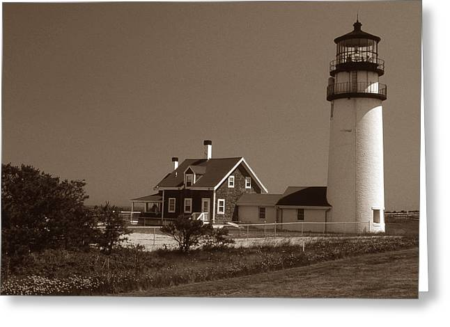 CAPE COD LIGHTHOUSE Greeting Card by Skip Willits