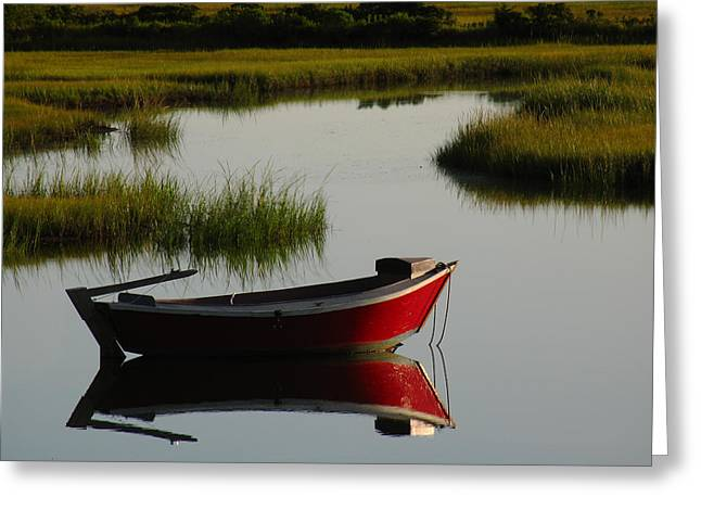 Fishing Creek Greeting Cards - Cape Cod Photography Greeting Card by Juergen Roth