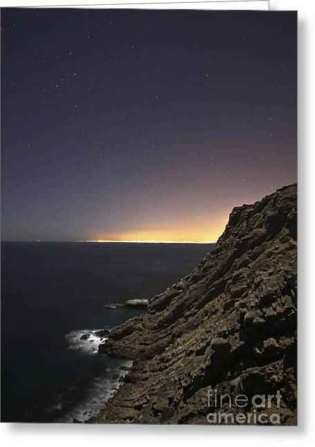 Cliffs Over Ocean Greeting Cards - Cape Espichel Skycape, Portugal Greeting Card by Miguel Claro