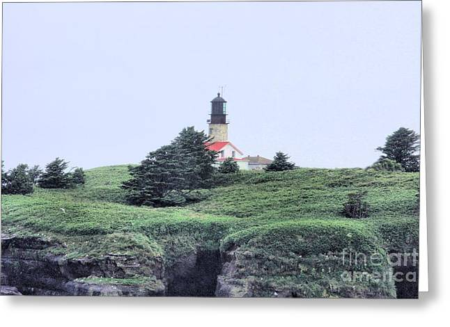 Cape Flattery Greeting Cards - Cape Flattery Lighthouse Greeting Card by Rick Lipscomb