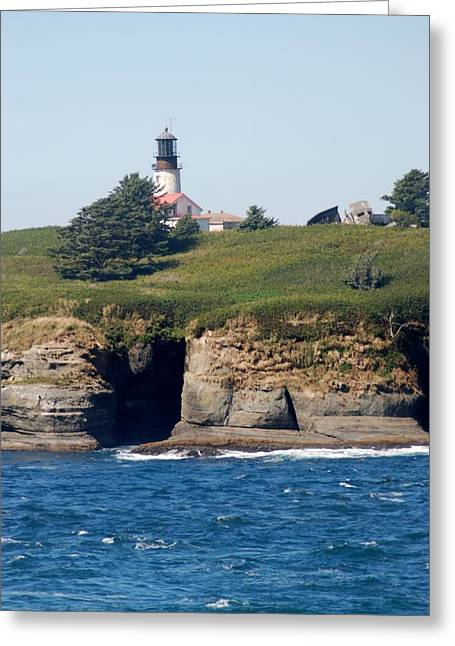 Cape Flattery Greeting Cards - Cape Flattery Lighthouse Greeting Card by Wanda Jesfield