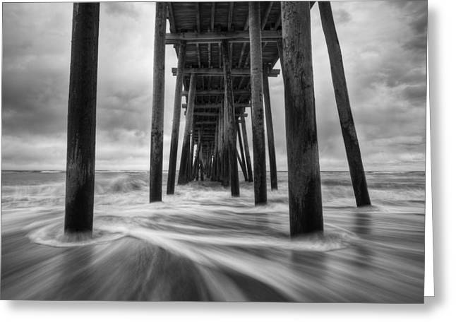 Rodanthe Greeting Cards - Cape Hatteras Outer Banks NC - Rodanthe Fishing Pier Greeting Card by Dave Allen