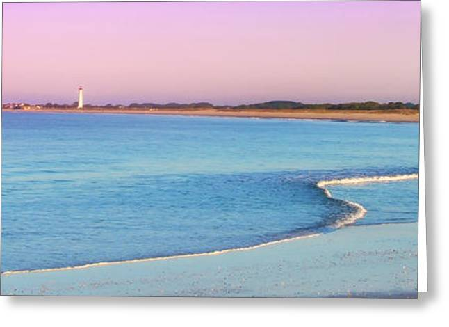 Ocean Panorama Digital Art Greeting Cards - Cape May Light House Panorama Greeting Card by Bill Cannon
