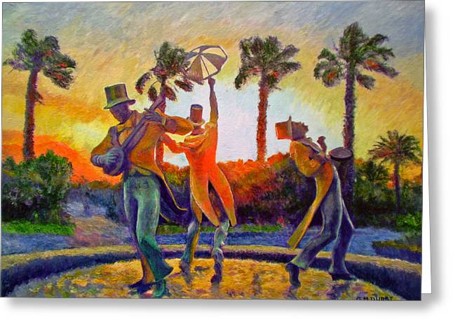 Cape Town Paintings Greeting Cards - Cape Minstrels Greeting Card by Michael Durst