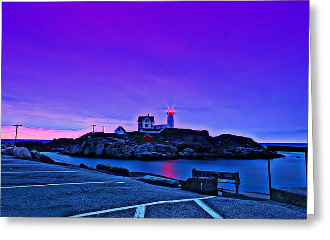 Cape Neddick Lighthouse Greeting Cards - Cape Neddick Light HDR Greeting Card by Rick  Blood