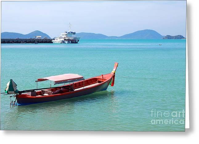 Phuket Greeting Cards - Cape Panwa Thailand Greeting Card by Charline Xia