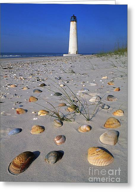St. George Island Greeting Cards - Cape Saint George Lighthouse 2 - FS000777 Greeting Card by Daniel Dempster