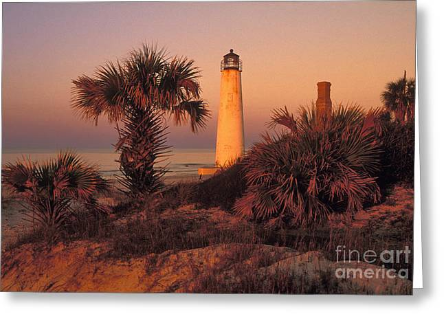 St. George Island Greeting Cards - Cape Saint George Lighthouse 3 - FS000776 Greeting Card by Daniel Dempster