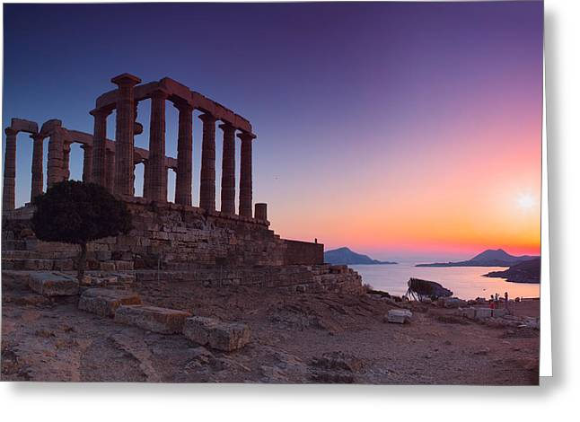 Mesta Greeting Cards - Cape Sounion Greeting Card by Emmanuel Panagiotakis