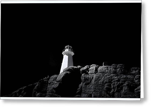 Old Rock Buildings Greeting Cards - Cape Spear - Canada - BW Greeting Card by Steve Hurt