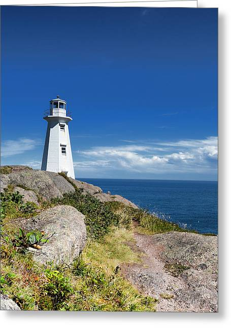 Historic Site Greeting Cards - Cape Spear Lighthouse Vrt Greeting Card by Steve Hurt