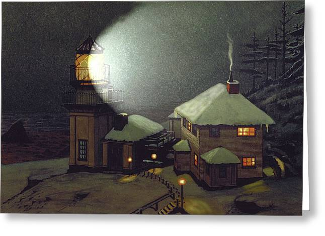 Important Mixed Media Greeting Cards - Cape St. Elias Greeting Card by James Lyman