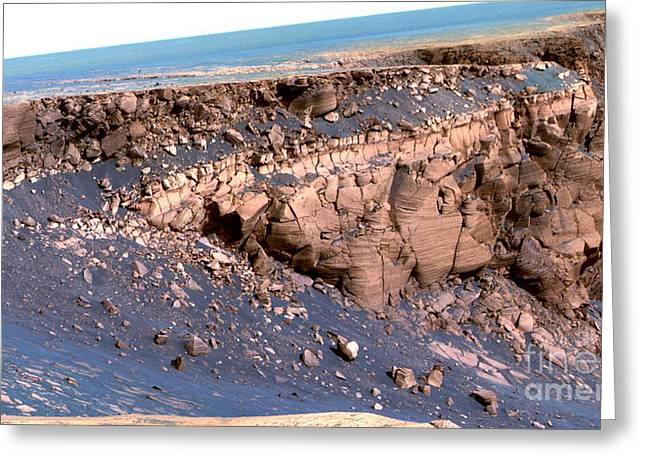Victoria Crater Greeting Cards - Cape St. Vincent, Mars Greeting Card by Nasa