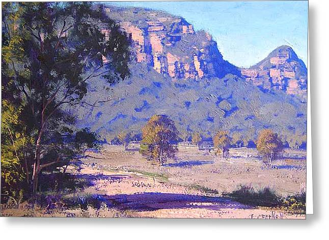 Shed Paintings Greeting Cards - Capertee Valley Australia Greeting Card by Graham Gercken