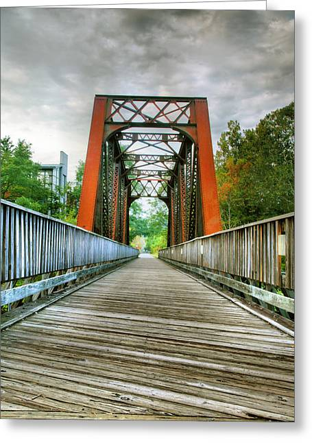 Framed Landscape Print Greeting Cards - Caperton Trail and Bridge Greeting Card by Steven Ainsworth