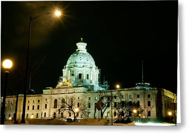 Capital Dome Greeting Card by Edward Congdon