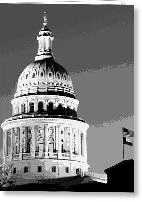 Capitol Digital Greeting Cards - Capitol Dome BW10 Greeting Card by Scott Kelley