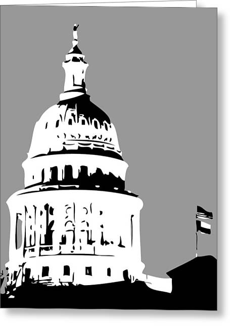 Capitol Digital Greeting Cards - Capitol Dome BW3 Greeting Card by Scott Kelley