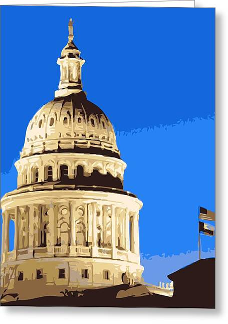 Capitol Digital Greeting Cards - Capitol Dome Color 10 Greeting Card by Scott Kelley