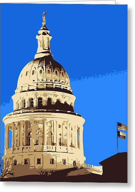 Capitol Digital Greeting Cards - Capitol Dome Color 6 Greeting Card by Scott Kelley
